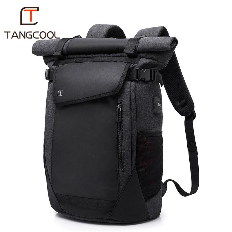 Tangcool мужской модный рюкзак Универсальный usb зарядный рюкзак мужской 17,3 дюймов ноутбук рюкзаки Открытый школьный студенческий рюкзак