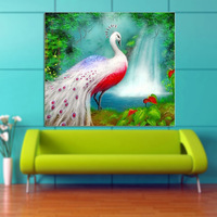5D Diamond Embroidery, DIY Diamind Painting, Peacock, Animal, 2.8mm Round Drilling Cross-stitch Kit, Sitting Room Decoration