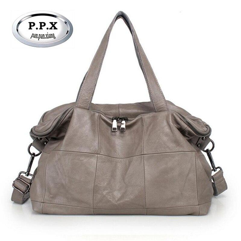 Европейские и американские Стиль Для женщин сумки из коровьей кожи склонны сумка большая емкость Вместительные сумки Повседневное Bolsa feminina...
