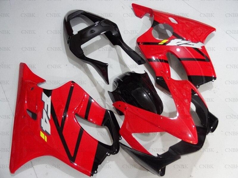 for CBR600F4i 2001 2003 Fairings CBR600 F4i 03 Red Black Full Body Kits CBR 600 2002