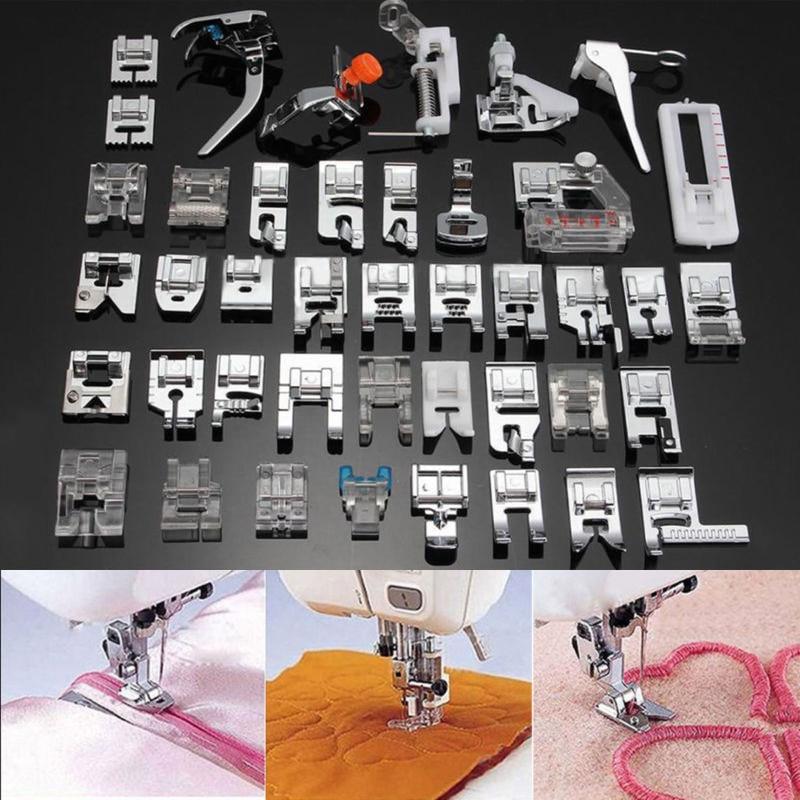 42 Piezas máquina de coser doméstica pie prensatelas de hermano cantante maquinas de coser prensatelas Kit práctico herramienta