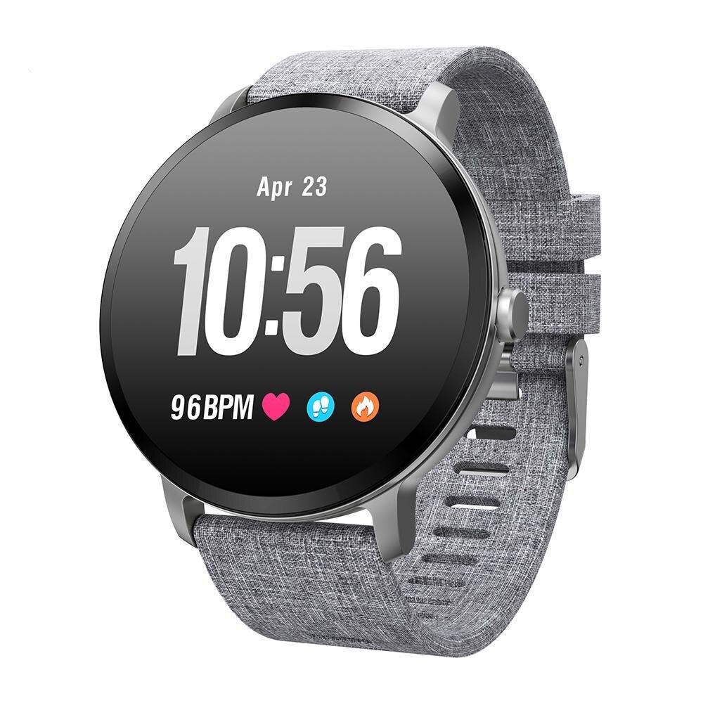 V11 montre intelligente IP67 étanche verre trempé activité Fitness tracker moniteur de fréquence cardiaque bord hommes femmes smartwatch
