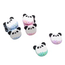Chenkai 5PCS Panda Shaped Baby Silicone Beads Teether Cartoon Teething For DIY Necklace Pendant Bracelet Accessories