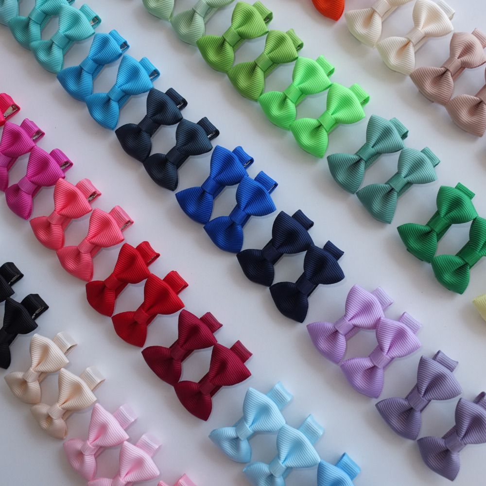 40 PCS Cute Hair clips Hair bow Boutique Mini bows Hairbow Alligator clips Barrettes Hairpins Hairgrips Hair Accessories