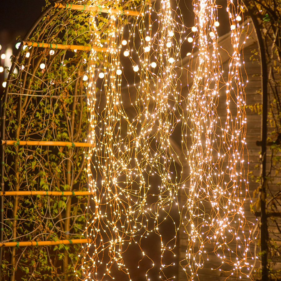 Waterproof Outdoor 2M 5 Branch 100leds Tree Vine Branch Copper Wire LED String Lights Christmas Holiday Party Wedding Lights
