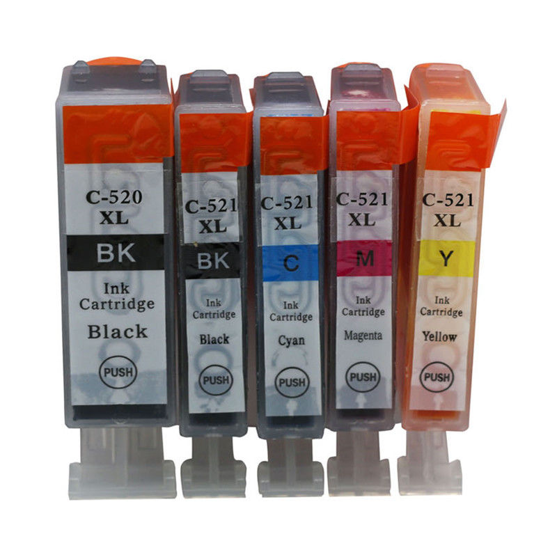 5x PGI-520 CLI-521 <font><b>Ink</b></font> <font><b>Cartridge</b></font> For <font><b>Canon</b></font> PIXMA MP560 MP550 MP990 MP980 <font><b>MP630</b></font> MX860 image