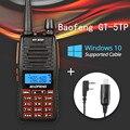 Baofeng GT-5TP Tri-power 1/4/8 W Doble Banda VHF/UHF 136-174/400-520 MHz de Radio de Dos Vías Walkie Talkie GT-5 con Win10 Soportado Cable
