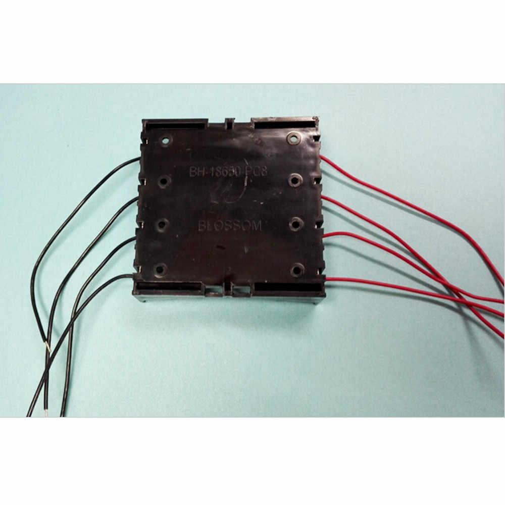Diy power bank 18650 caixa de bateria para 4x18650 bateria recarregável plástico suporte da bateria caixa de armazenamento caso p5drop shipping