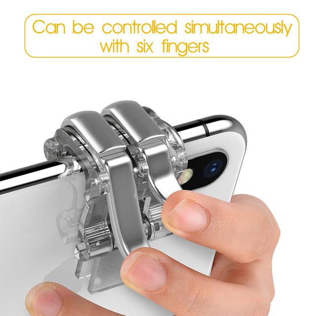 For PUBG Mobile Phone Game Joystick Gamepad Metal Gaming Trigger Button Aim Key Smartphone Shooting Shooter Controller