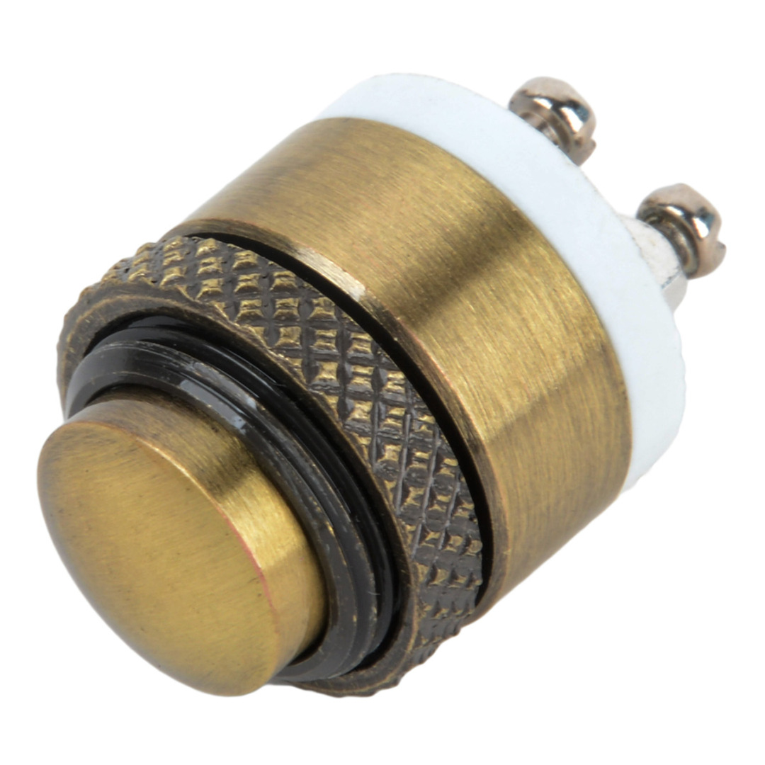 Brass Metal Push Button Switch Press Button Momentary Push Button Switch Waterproof Door Bell Doorbell Switch boruit b10 xm l2 led headlamp 3 mode 3800lm headlight micro usb rechargeable head torch camping hunting waterproof frontal lamp