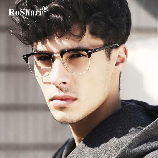 Roshari Unisex Clear Lens Nerd Geek Men Sunglasses Women