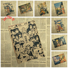 NARUTO Japanese classic cartoon Movie Kraft Paper Poster Bar Cafe wall sticker Decorative Painting