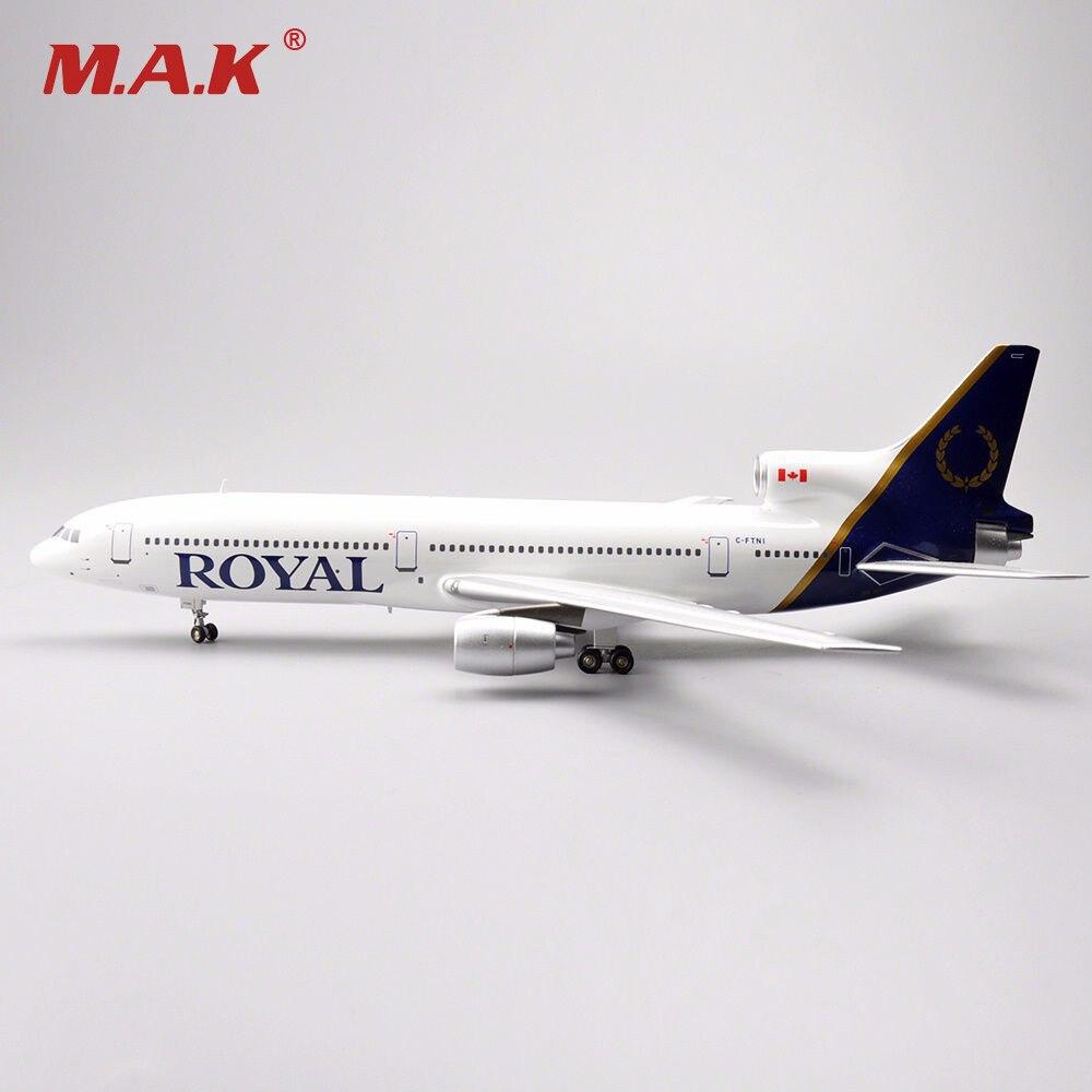 Nouveau 1/200 avions moulés sous pression modèle jouets en vol 200 LOCKHEED L-1011 TriStar ROYAL C-FTNI modèle avion modèle enfants cadeaux Colle