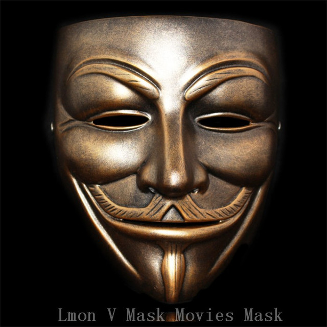 free shipping 2 colors movie face v mask halloween details new v for vendetta anonymous film