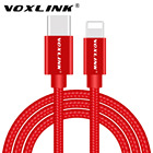 VOXLINK USB Type C to Lightning Cable,USB 2.0 Type-C USB-C to Lightning Data Sync Charge Cable for Apple Macbook iphone 7 Plus
