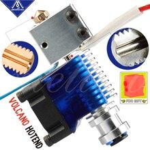 Mellow NF V6 volcán hotend, 12V/24V, impresión Bowden remota, extremo en J y soporte de ventilador de refrigeración para E3D V6 Volcano Hotend