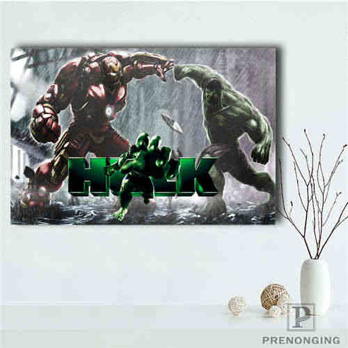 Personalizado Lona Cartaz Hulk (2) Tecido Pano de Impressão de Pôsteres Wall Art Pictures For Living Room Decor #18-12-05-H-03-137