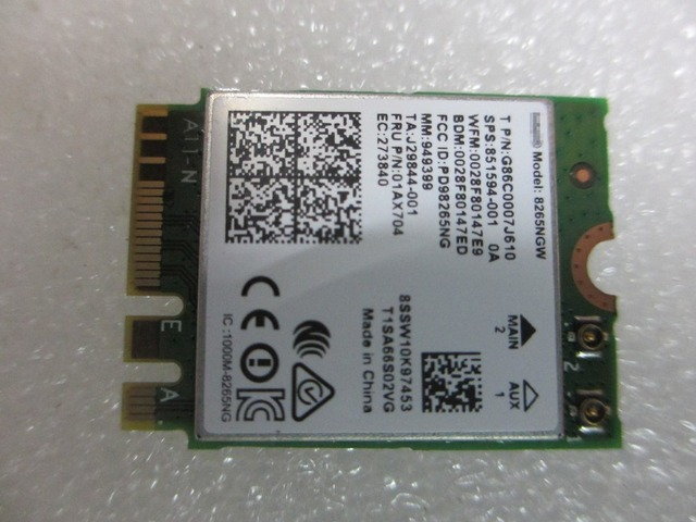 269bb3d30 NEW Dual band Wireless-AC 8265 8265AC 8265NGW NGFF wifi for HP 820 G3 840