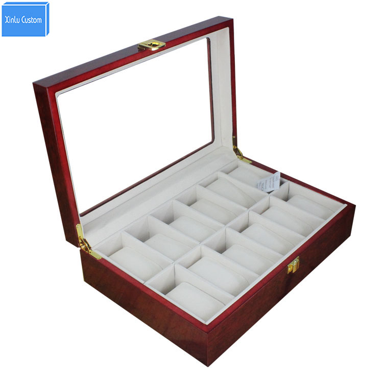Classical Fashion Watch Organizers for Europe Brand Watches Box Wood Window Storage Display Case, Reliable China Box Supplier fashion luxury wood watch box top yellow durable watch storage case original brand watch display boxes jewelry gift box w058