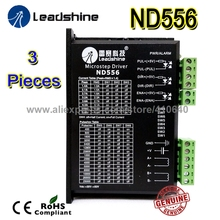 3 pcs per lot ! Free shipping! Leadshine Stepper motor Drive ND556 Max current 5.6 A for NEMA23 motor 3 pcs per lot free shipping economical leadshine 4 axis pc based motion controller dmc 1000b whole set accessory into 1 package