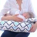 Ins Caliente Cojín De Lactancia Del Bebé Grado A 100% de Algodón Suave en Forma de U multifuncional Almohada de Lactancia Infantil Cómodo dormir Pad