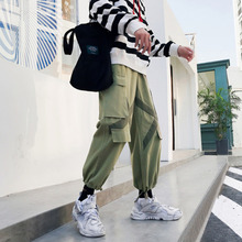 Cargo Pants Men Hip Hop Style Loose Straight Cotton Pants Man Big Pocket Harem Pants цена