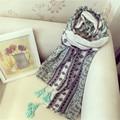 Vintage Women scarf Floral Vintage Ladies Scarves foulard femme balaclava Cotton Tassel winter scarf wrap shawl Blanket Scarf