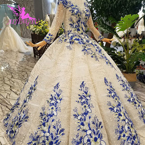 Image 3 - AIJINGYU חתונה Dressesing שמלות יוקרה שמלות לבן כדור פקיסטני לקנות בדובאי ריינסטון שמלת קוריאני שמלת חתונה