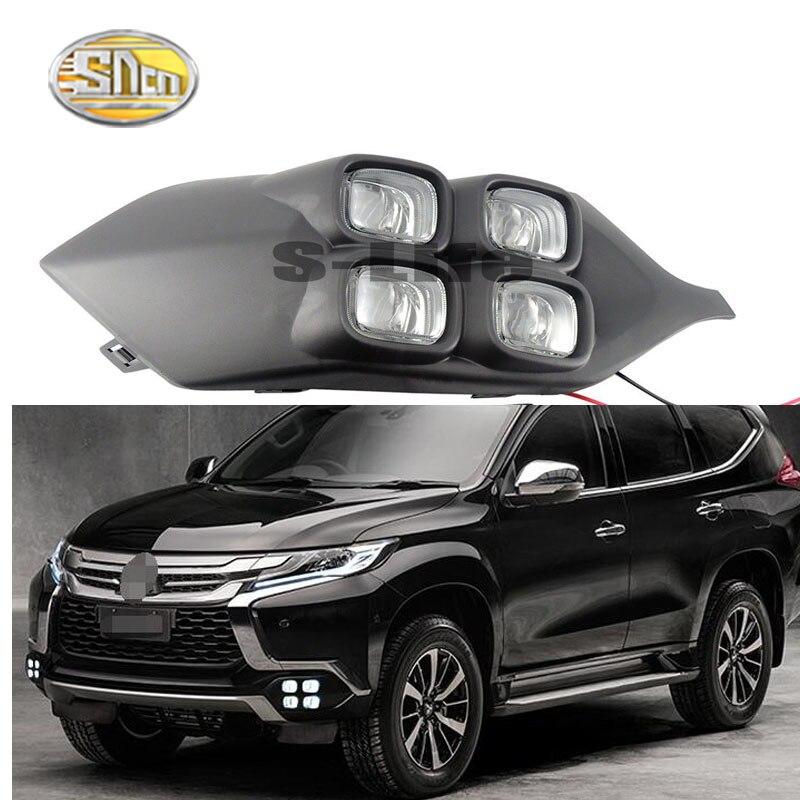4 yeux Super luminosité accessoires de voiture ABS 12 V LED feux de jour DRL lampe pour Mitsubishi Pajero Sport Montero 2016 2017