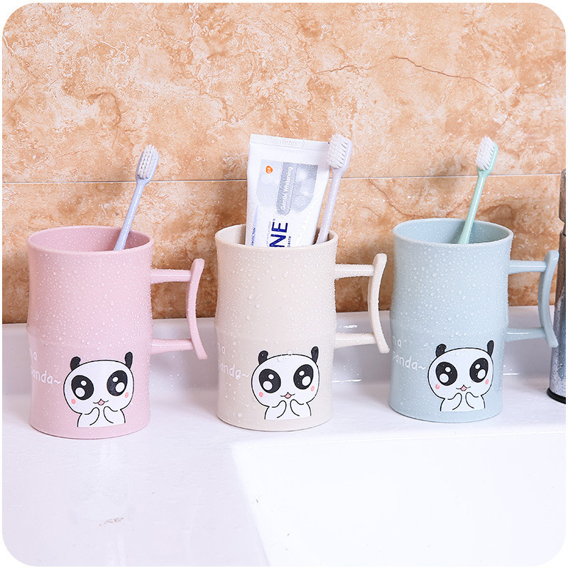 1PC Plastic Cartoon Animal Toothbrush Cup Bathroom Tumbler Mouthwash Travel Toothbrush Holder Cup Home Bathroom Accessories in Bathroom Tumblers from Home Garden
