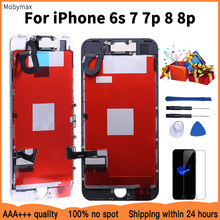 AAA+++Superior Quality LCD For iPhone 7 7 Plus 8 8 Plus Completed LCD Screen Assembly Replacement With Front Camera+Speaker+Gift(China)