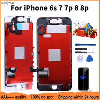 AAA+++Superior Quality LCD For iPhone 7 7 Plus 8 8 Plus Completed LCD Screen Assembly Replacement With Front Camera+Speaker+Gift