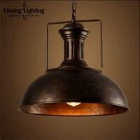Лофт Винтаж Edison Утюг персонализированные бар освещения счетчик лампы Винтаж подвесные светильники лампы труб светодиодный E27 лампы 110 В 240