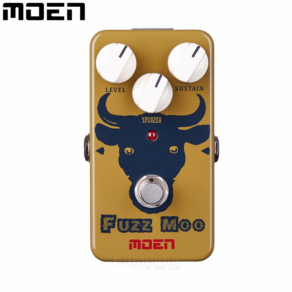 Moen Fuzz Moo Distortion Effect Pedal Electric Guitar Effects Hot AM-FZ True Bypass biyang baby boom fz 10 electric guitar effect pedal three models fuzz star distortion true bypass musical instruments