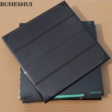 BUHESHUI 4.5W 5V 6V Polycrystalline Monocrystalline Solar Cell Solar Panel For Battery Mobile Phone Charger Education 165*165MM