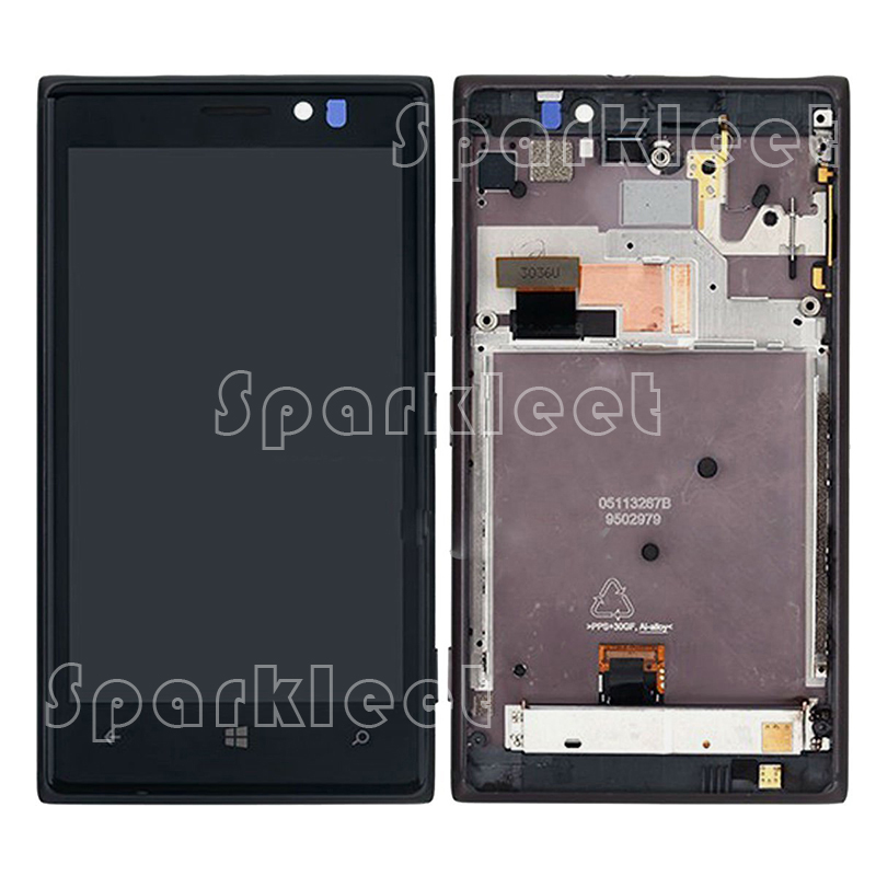 LCD For Nokia Lumia 925 LCD Display Screen touch Digitizer Full Assembly With Frame Black Silver