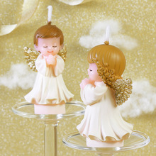 Creative Wedding Candle White Angel Decoration Scented Smokeless Candles Boy Girl Baby Pray Birthday Handmade