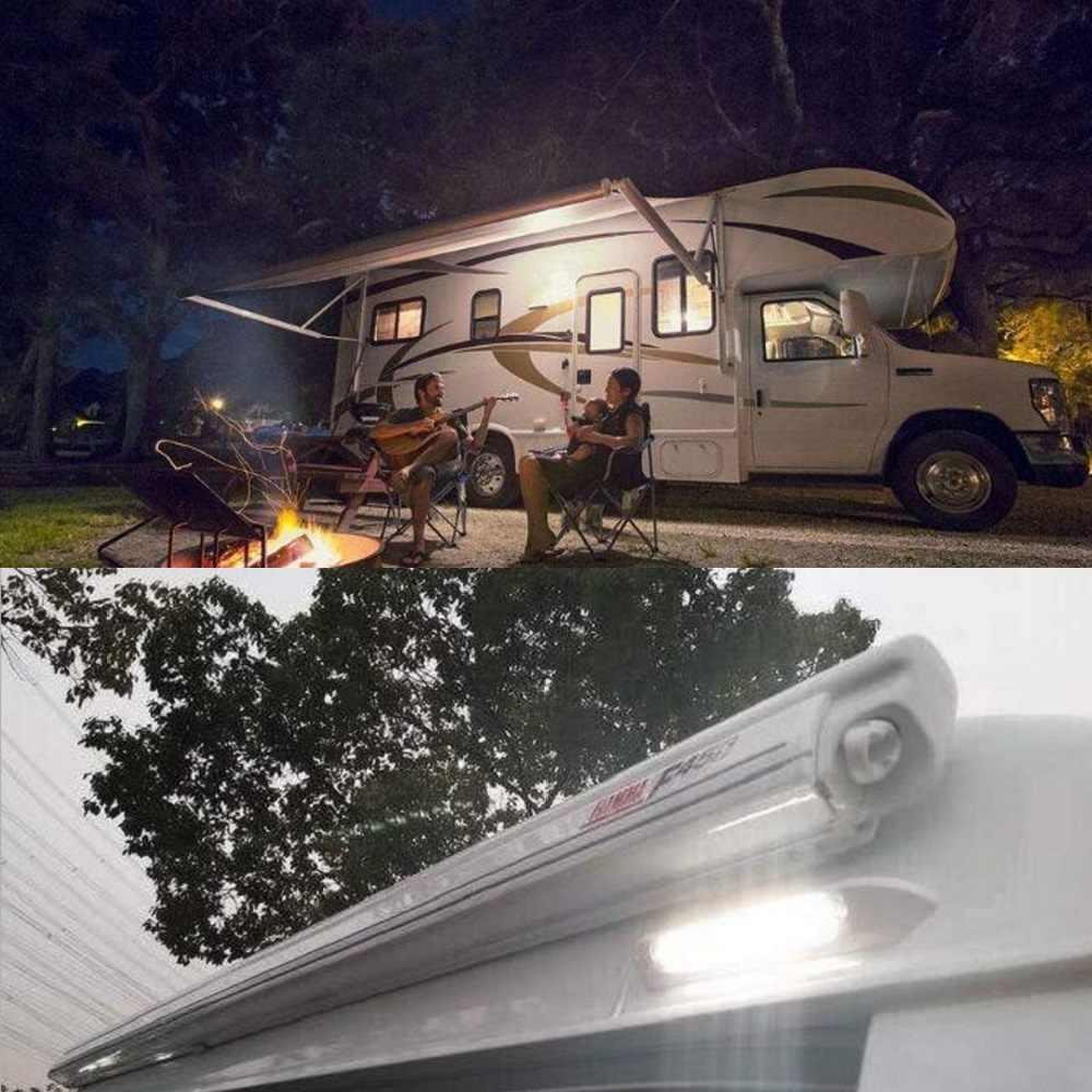 12 ヘビーデューティバッテリーオーニング別館ライト 30 Led ウォールライトバーポーチ外装ストリップランプキャンピングカートレーラーヨットボートキャンピングカーキャンプ
