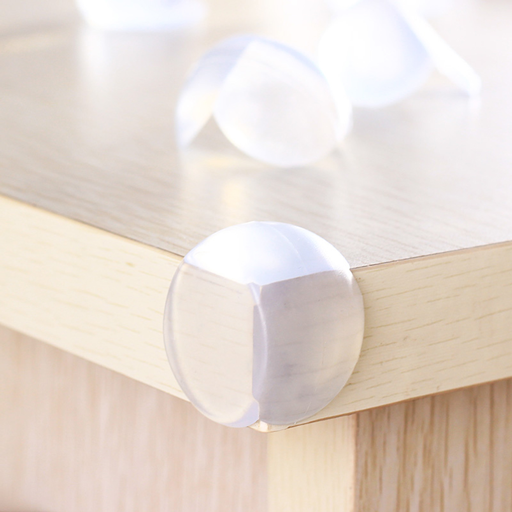 New Portable 12pcs/Set Transparent Baby Safe Spherical Protection Table Thickening Angle Anti-collision