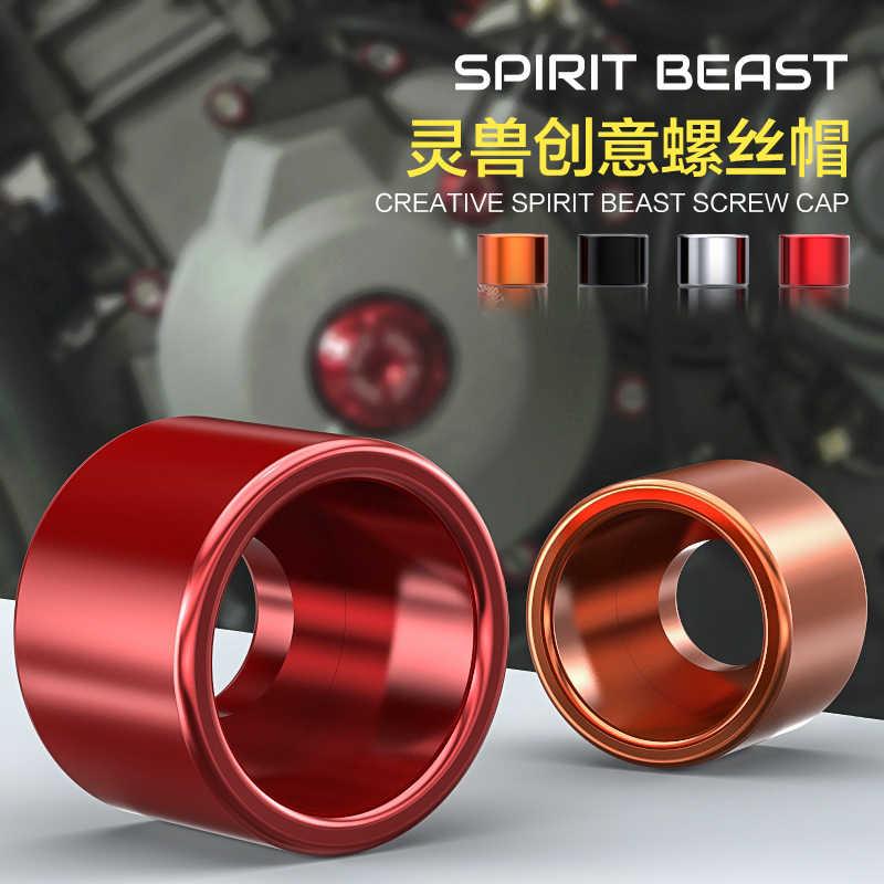 Akcesoria motocyklowe Przykręcana pokrywa zmodyfikowane akcesoria skuter dekoracyjne śruba CNC aluminium śruba ze stopu cap motocykl styling
