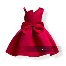Girl Clothes Sling Dress Bow Decoration Baby Birthday Party Vestidos Children's Wear 2019 Hot Sale 3-10 Y Child Quality Clothing summer girl clothes new strap dress rose print children s wear vestidos baby 4 11 y children quality clothing 2019 hot sale