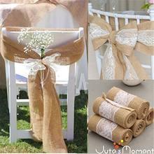 Натуральный джут в деревенском стиле кружевная ткань искусственный