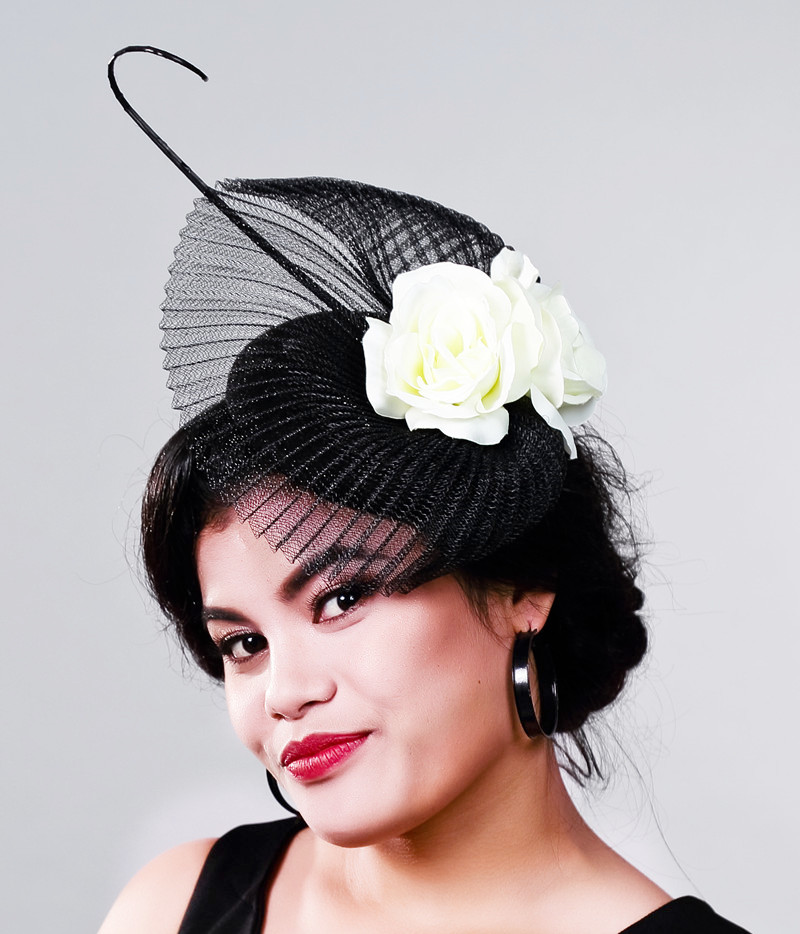 Elegant Dotted Mesh Bridal Wedding Hats And Fascinators For Woman Party Feather Veil Headdress Vintage Tocados Sombreros Bodas women s hats and fascinators vintage sinamay sagittate feather fascinator with headband tocados sombreros bodas free shipping