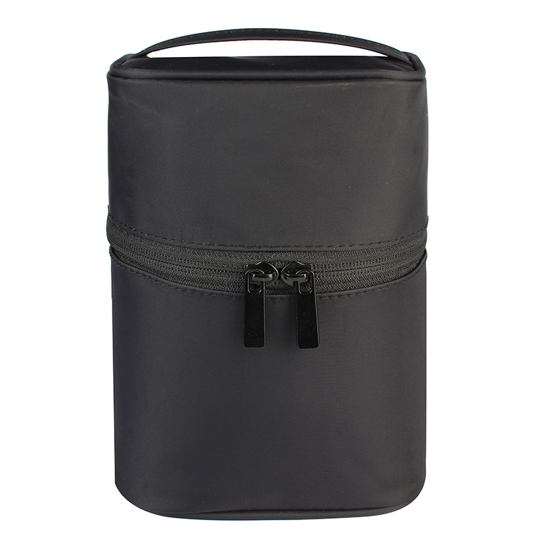 Zipper Man Women Makeup Bag Nylon Cosmetic Bag Beauty Case Make Up Organizer Toiletry Bag Kits Storage Travel Wash Pouch Black