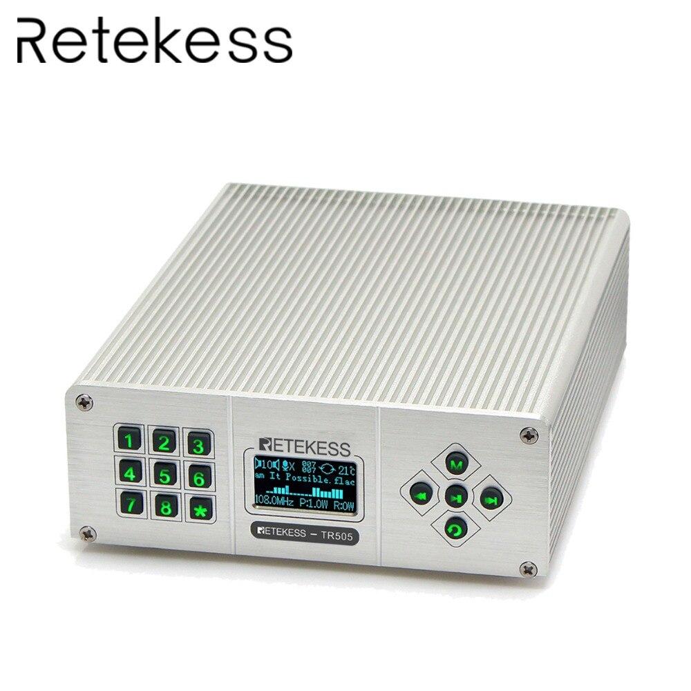 Retekess TR505 25W PLL FM antenne émetteur USB Mini Radio stéréo Station sans fil sans perte diffusion de musique + puissance + antenne