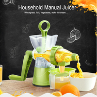 Multifunction Desktop Manual Juice Maker Juicer Household Mini Ice Cream Maker ABS Health Material Fresh Juice