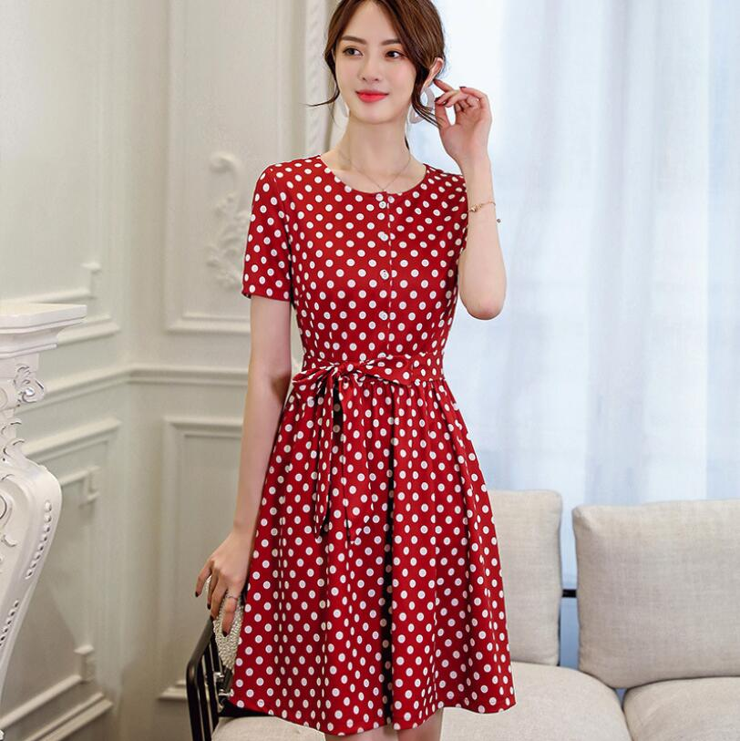 2019 New Chinese Checker cloth styles Women's Fashion Dresses for Spring and Summer the best gift for girl friend