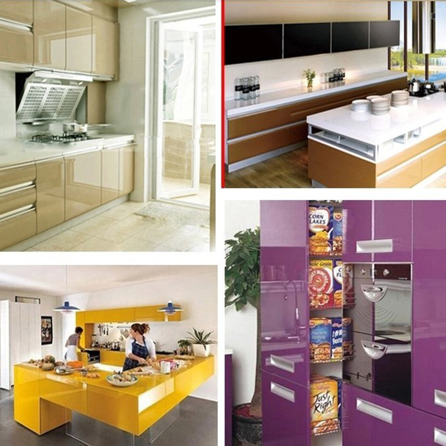 Image 5 - 0.4x5M Kitchen Cabinet Waterproof Stickers Furniture Wardrobe Table Door Self Adhesive Wallpaper Solid Color Paint Wall StickerWallpapers   -