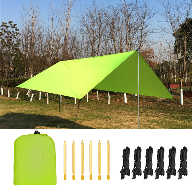 3x3 metros cuadrados jardín parasol vela Canopy bloque exterior Patio jardín impermeable tarp refugio canopie toldos