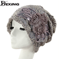 [Dexing]Pile cap female spring summer  lace thin pocket cutout mesh beanies hat for women   cap top cap turban hat covering